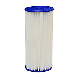 EcoPure Pleated Universal Replacement Water Filters, 4.5 inch x 10 inch