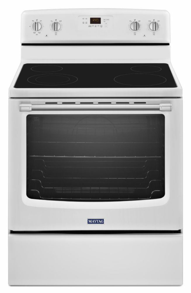 6.2 cu. ft. Electric Free-Standing Range with Stainless Steel Handles in White