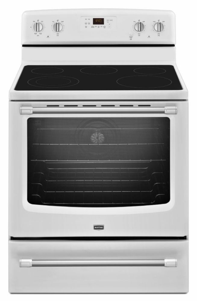 6.2 cu. ft. Electric Free-Standing Range with Convection Oven in White