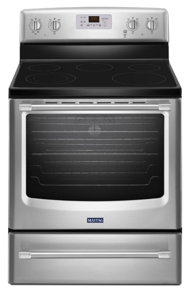 6.2 cu. ft. Electric Free-Standing Range with Convection Oven in Stainless Steel