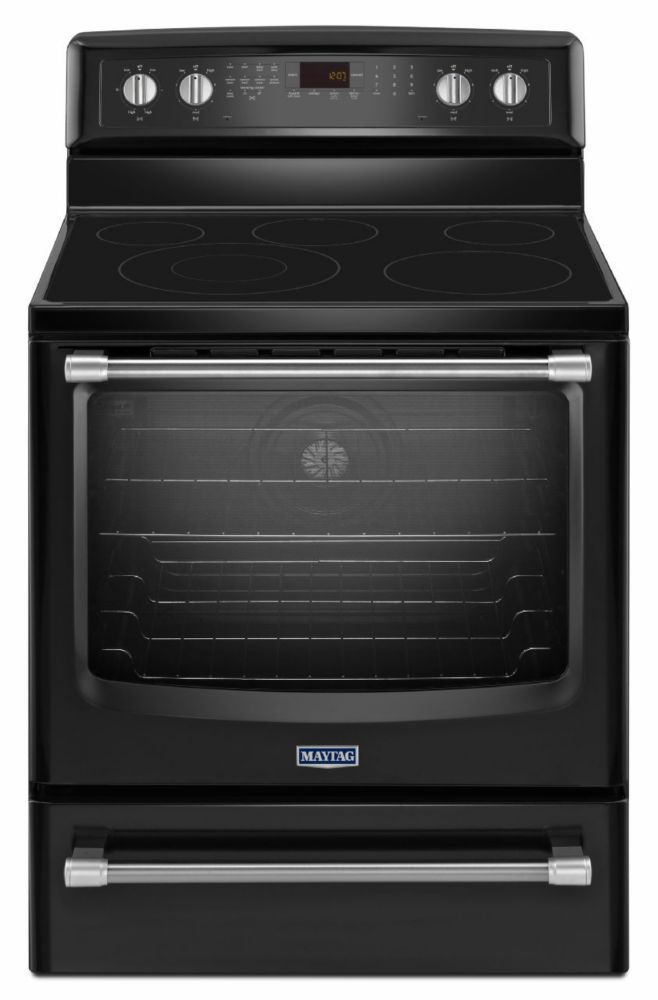 6.2 cu. ft. Electric Free-Standing Oven with Convection Heating in Black