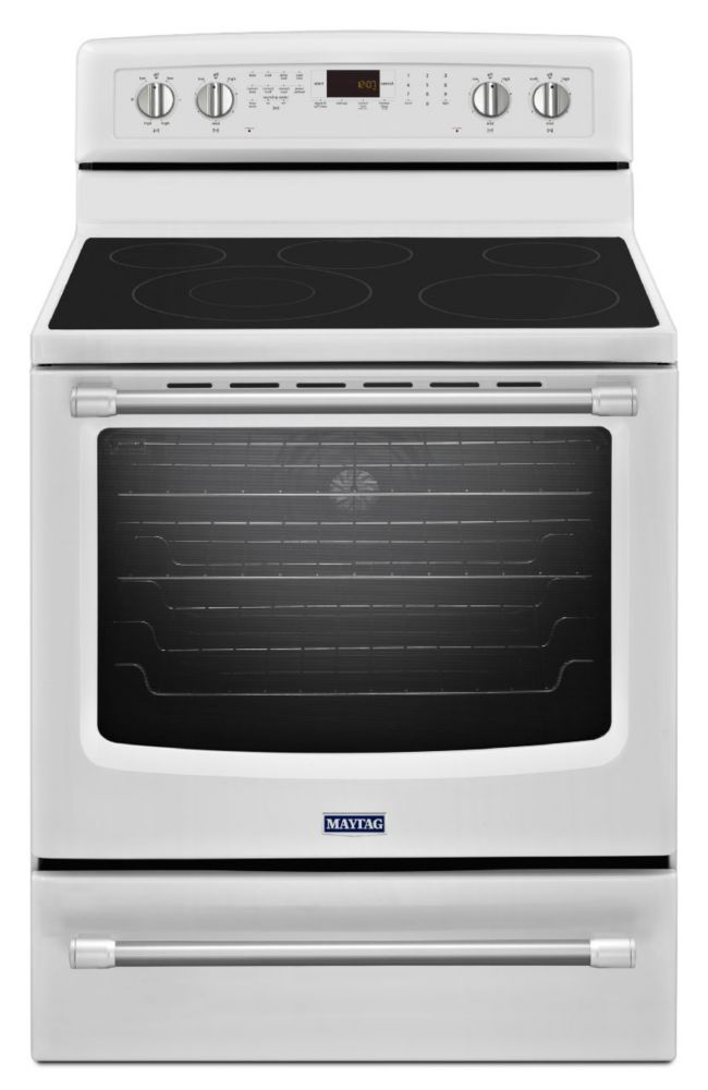 6.2 cu. ft. Electric Free-Standing Oven with Convection Heating in White