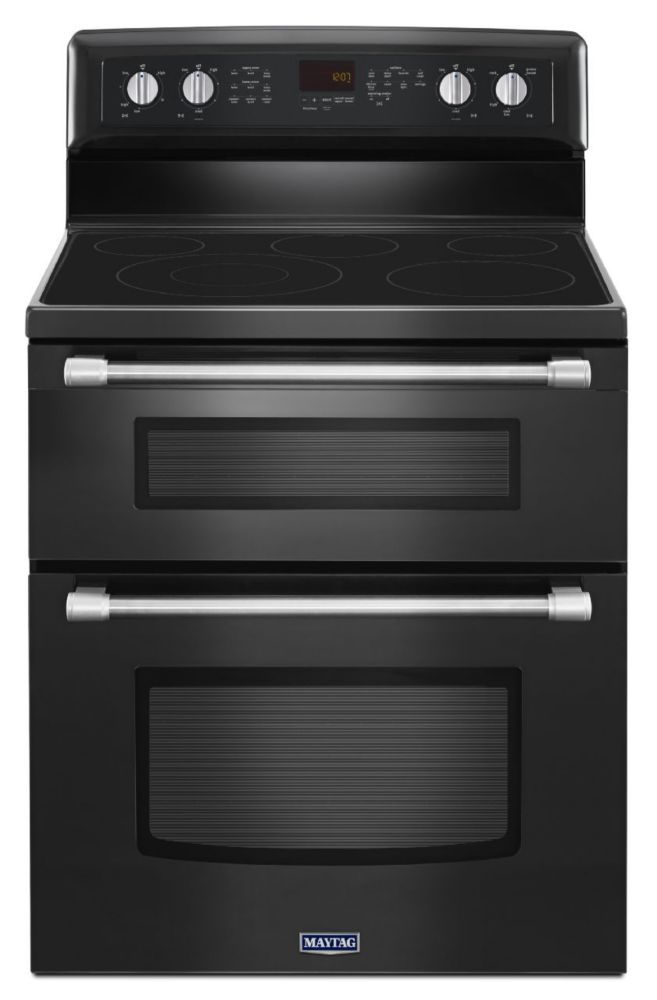 Gemini 6.7 cu. ft. Double Oven Electric Stove with EvenAir� Convection in Black