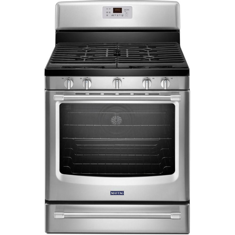 5.8 cu. ft. Free-Standing Gas Range with Convection Oven in Stainless Steel