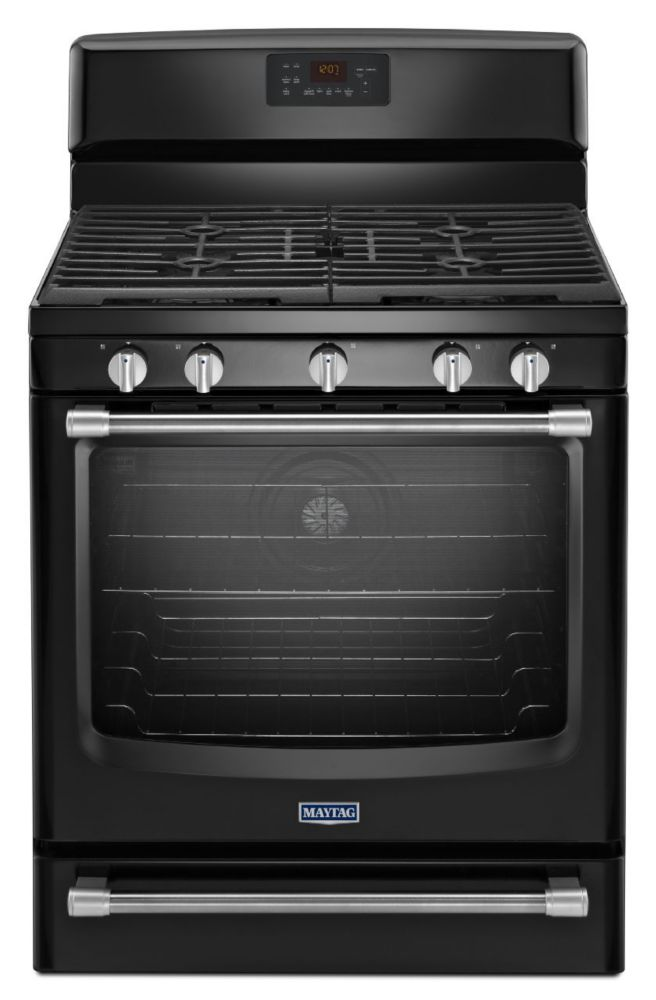 5.8 cu. ft. Free-Standing Gas Range with Convection Oven in Black