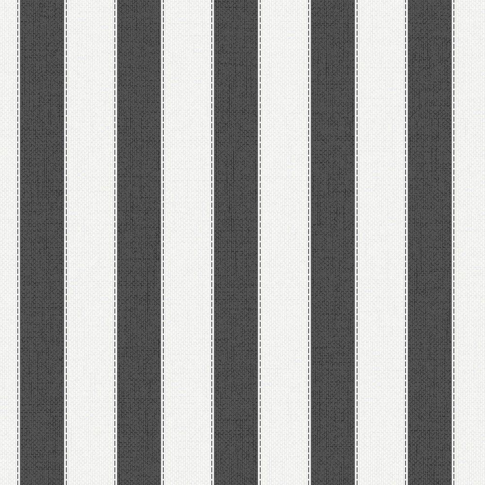 Ticking Stripe Black Wallpaper