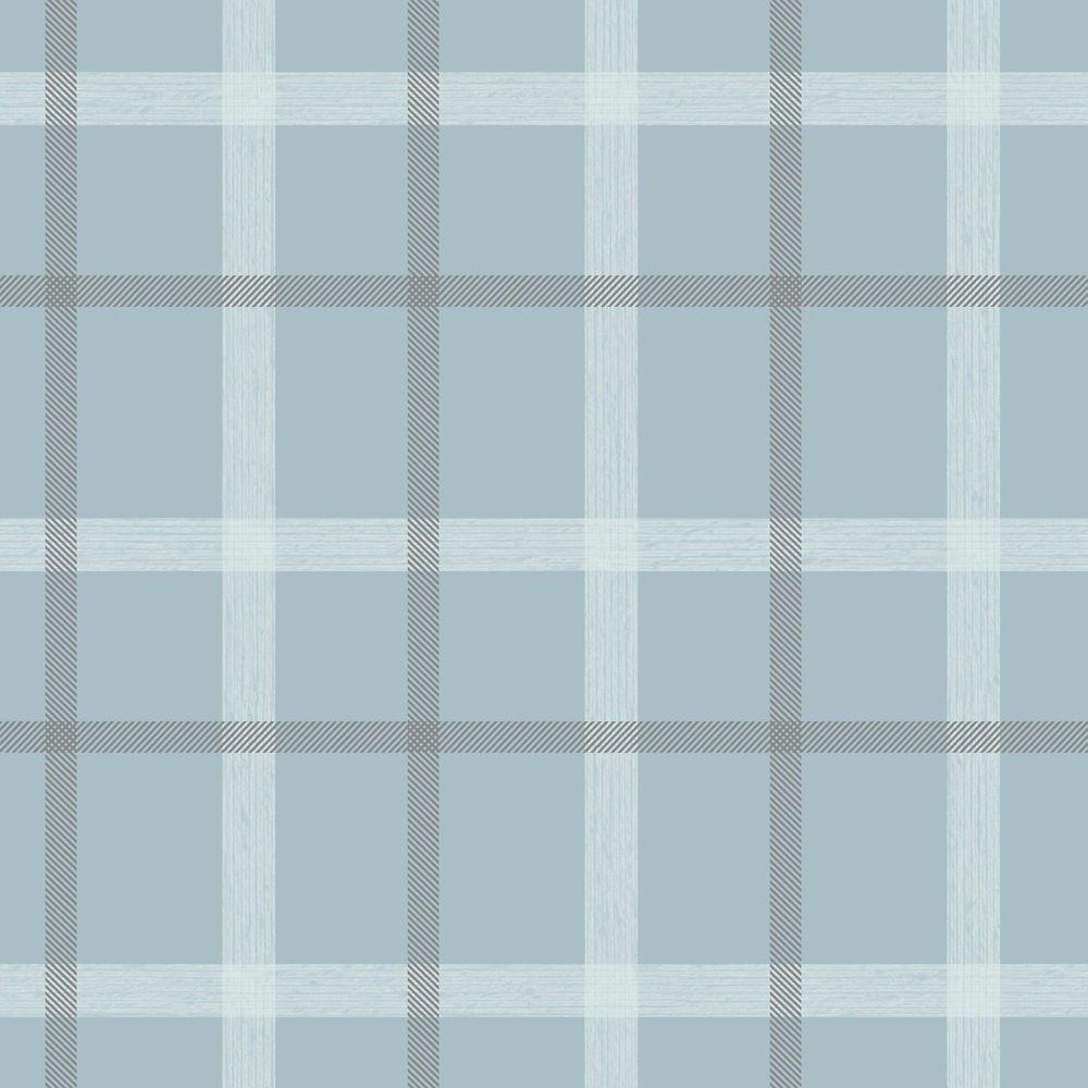Tissu Écossais Papier Peint Bleu