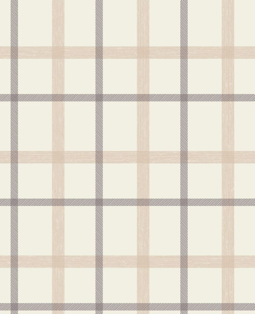 Pin brown plaid wallpaper on pinterest for Wallpaper home depot canada