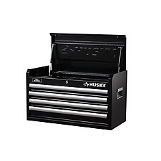 26-inch W 4-Drawer Tool Chest, Black