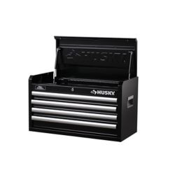 HUSKY 26-inch W 4-Drawer Tool Chest, Black