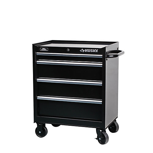 27-inch W 4-Drawer Tool Cabinet in Black
