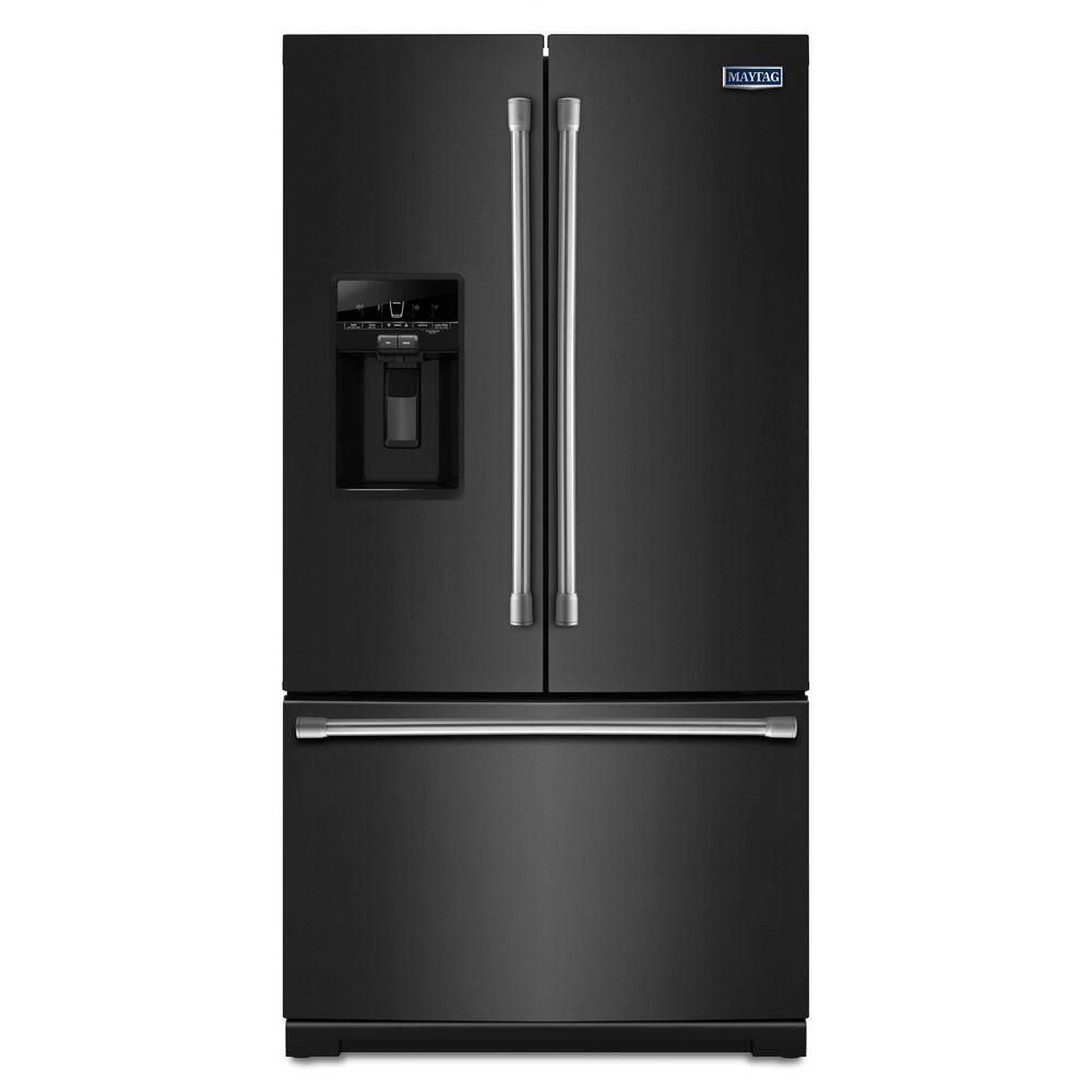 26.8 cu. ft. French Door Refrigerator with PowerCold Feature in Black