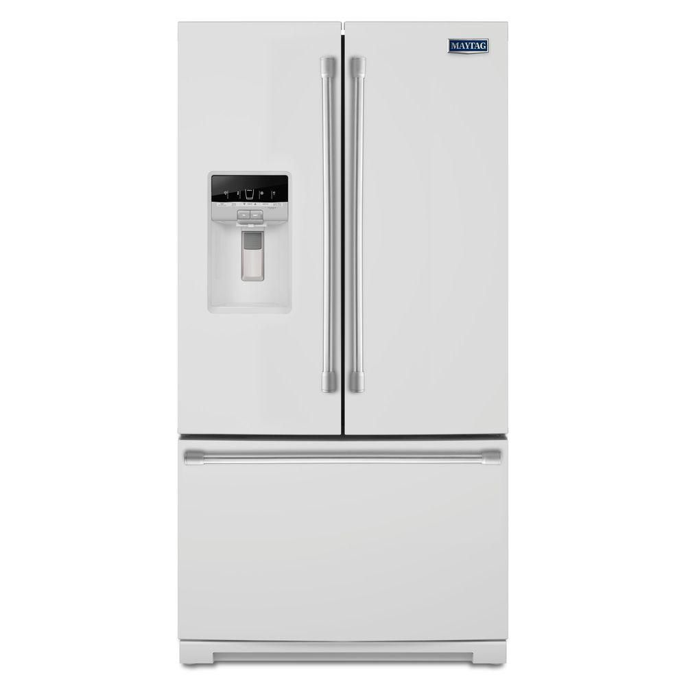 26.8 cu. ft. French Door Refrigerator with PowerCold Feature in White