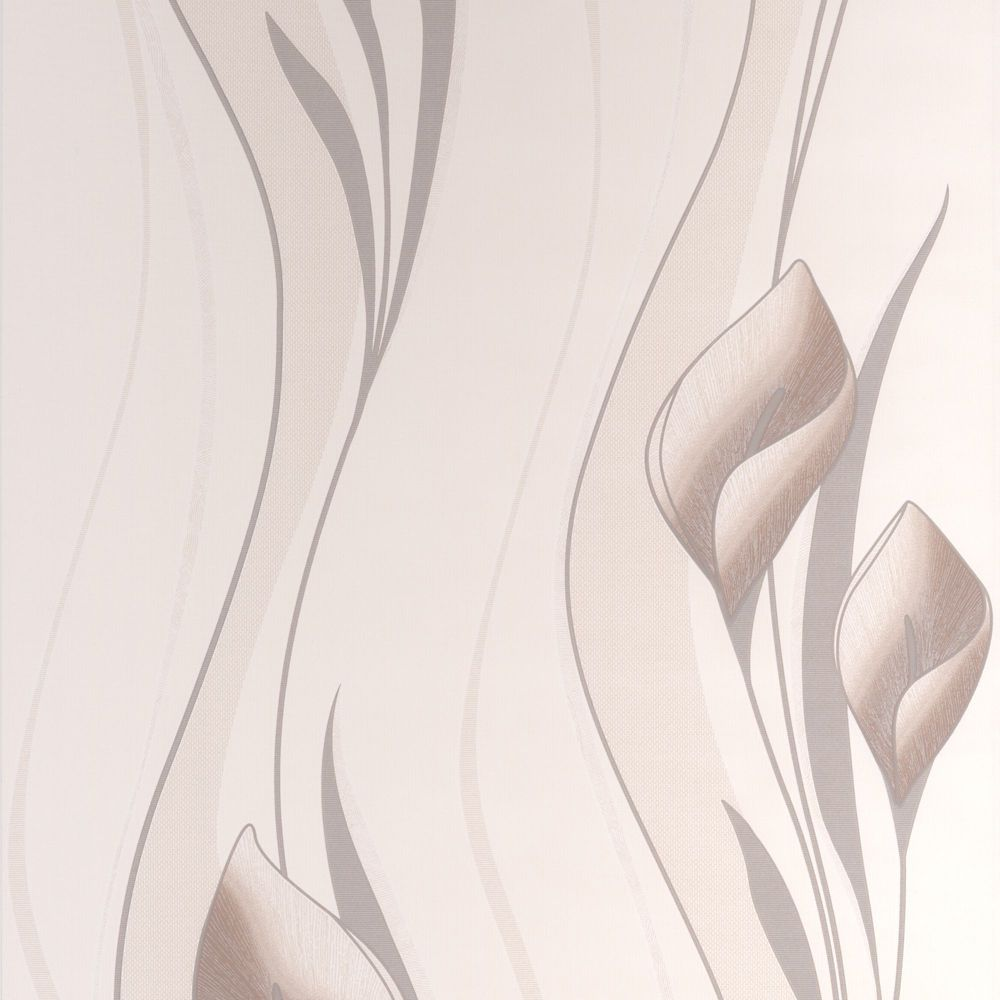 Peace Cream/Brown Wallpaper