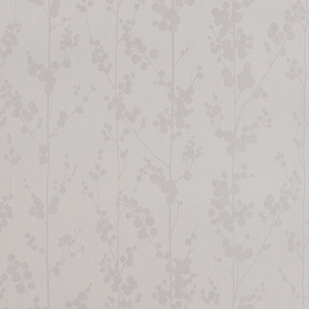 Berries White Mica Wallpaper