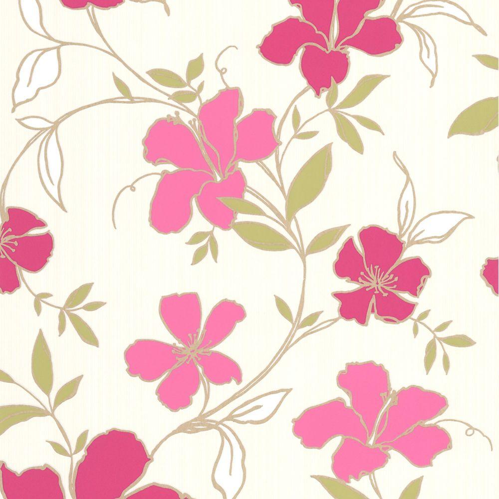 Rapture Red/Pink Wallpaper