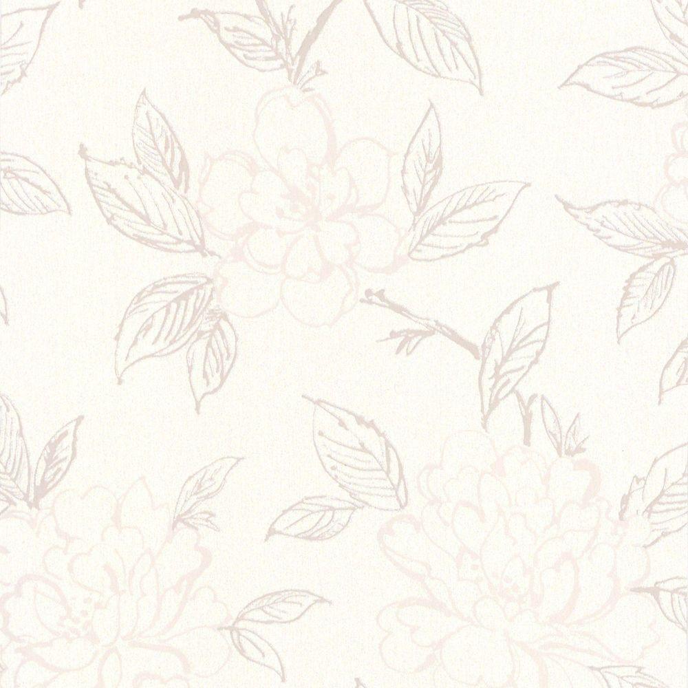 Bloom Cream/Beige Wallpaper