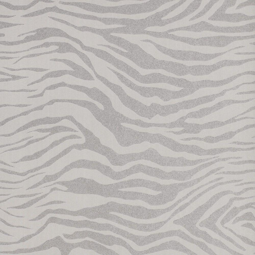Zèbre Papier Peint Gris