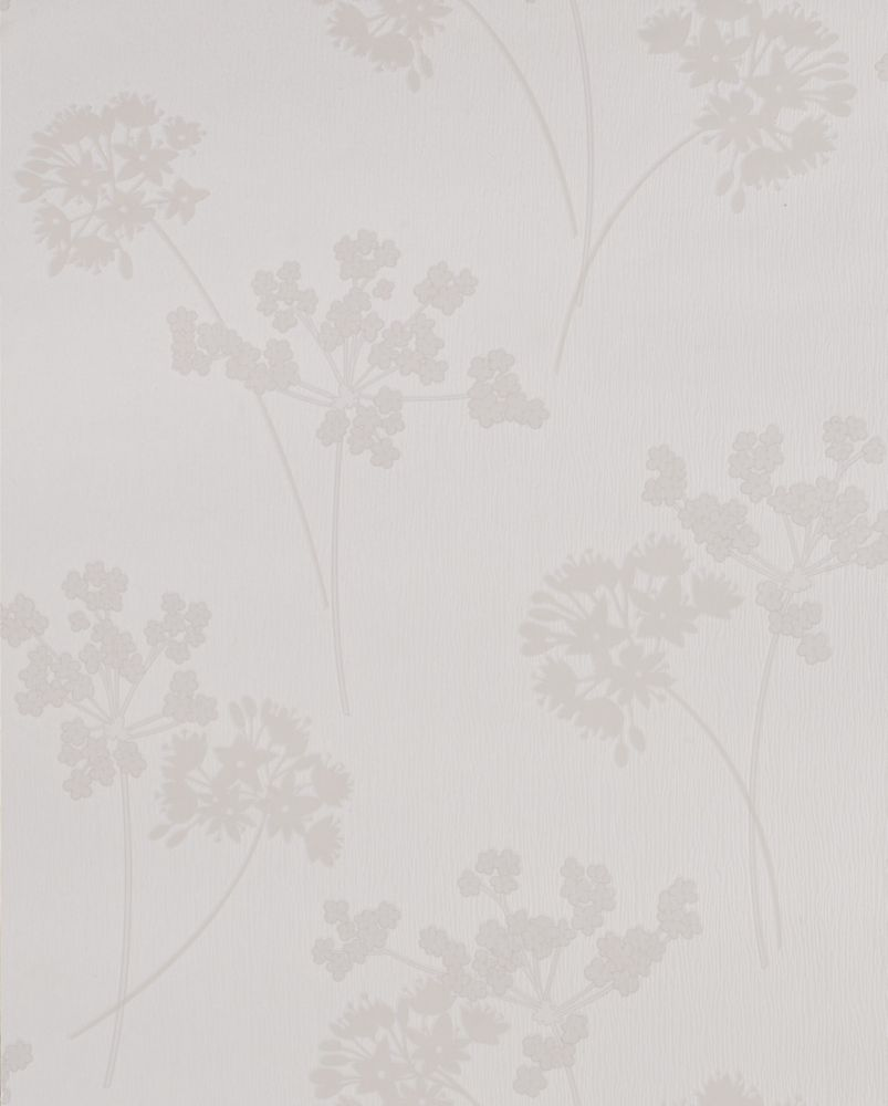 Milly white wallpaper 30 760 canada discount for Discount wallpaper canada