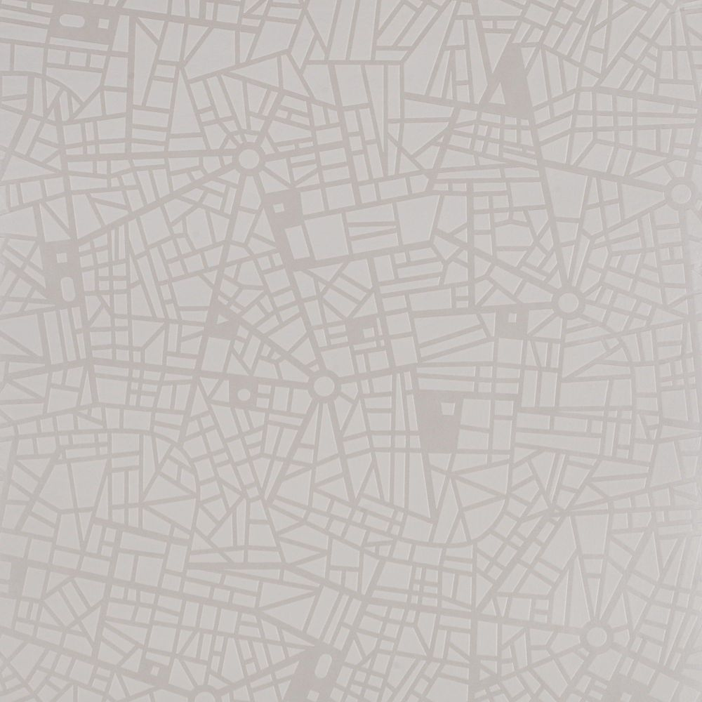 Maps White Mica Wallpaper