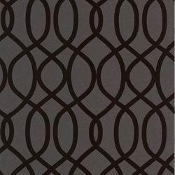 Graham & Brown Knightsbridge Flock Black Wallpaper