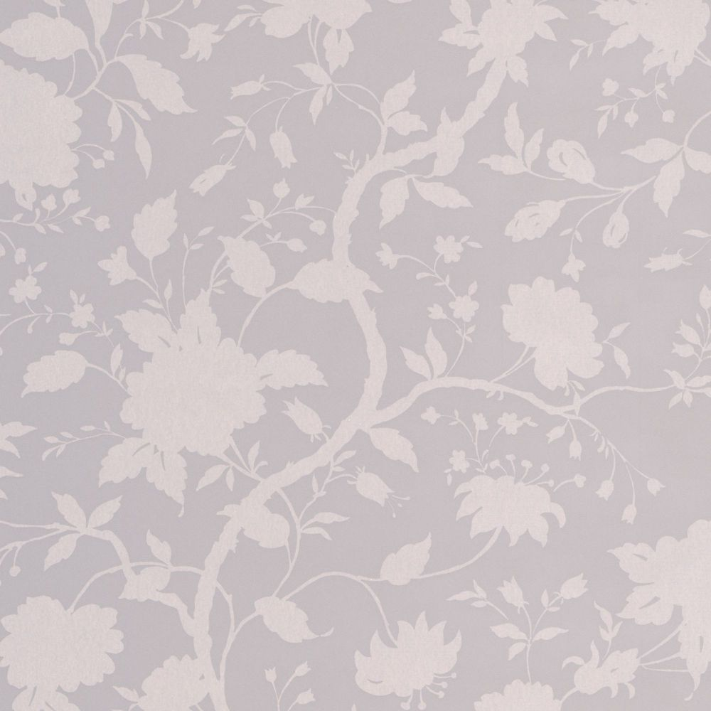Botanical Floral Grey Wallpaper