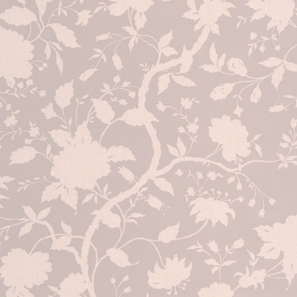 Botanical Floral Taupe Wallpaper