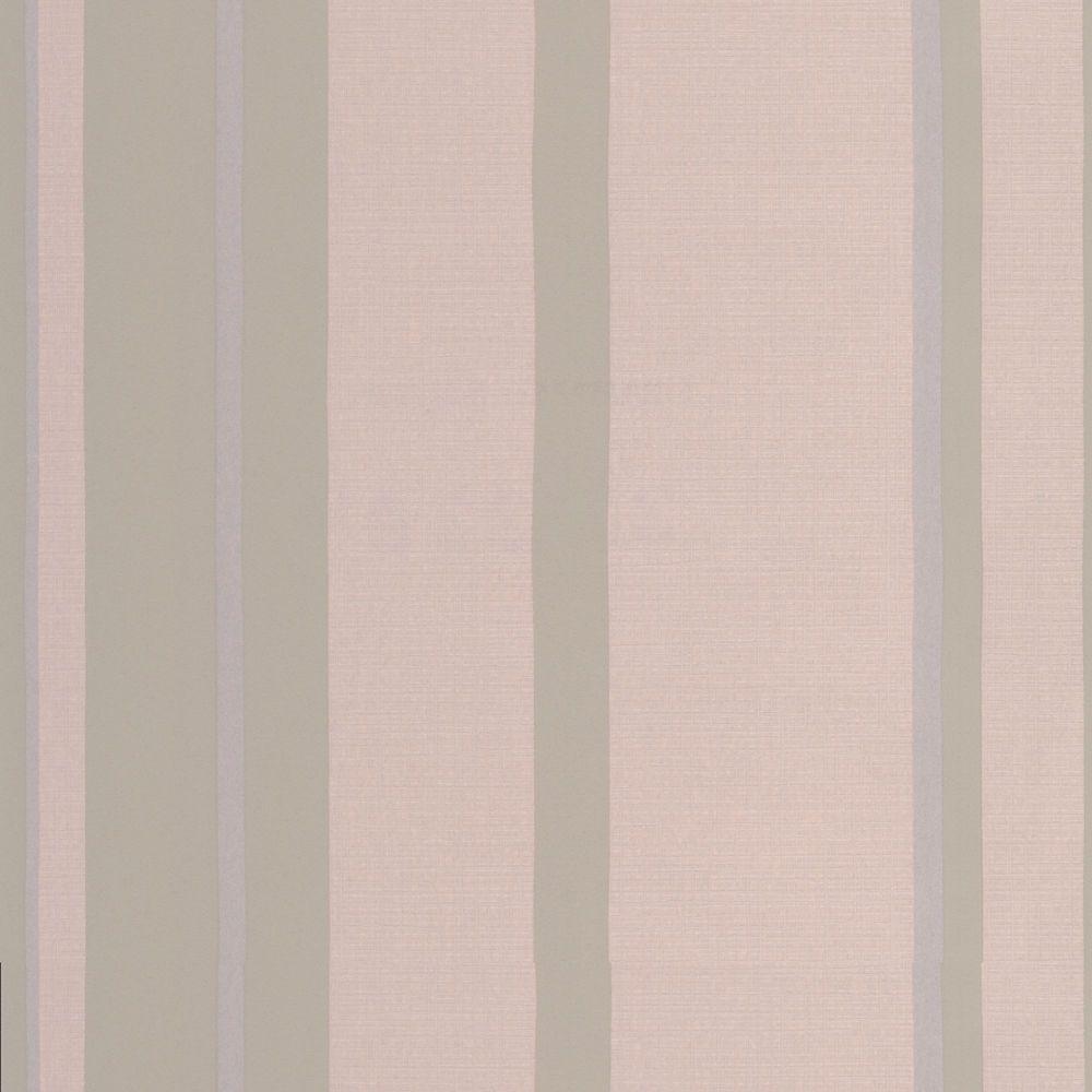 Graham & Brown Hoppen Stripe Taupe/Moss Wallpaper