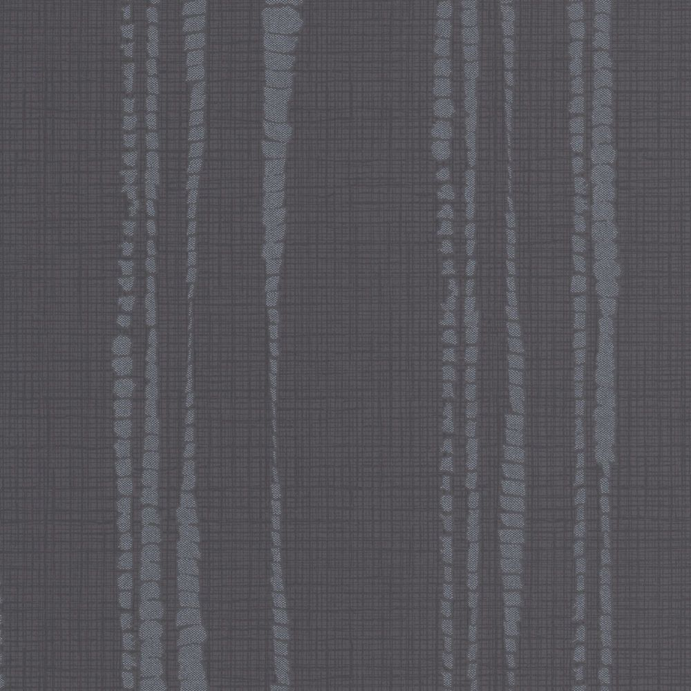 Laddered Stripe Black Wallpaper