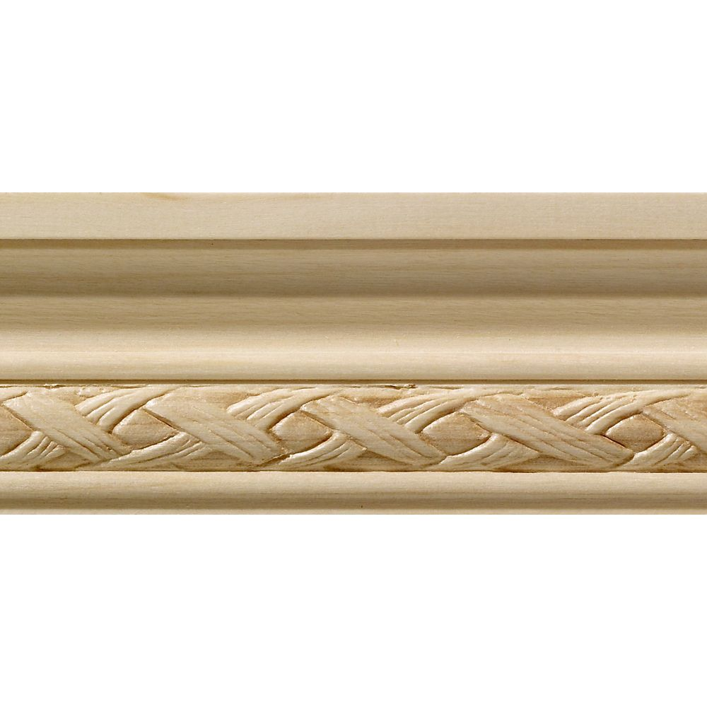 Ornamental Mouldings White Hardwood Loose Weave Small