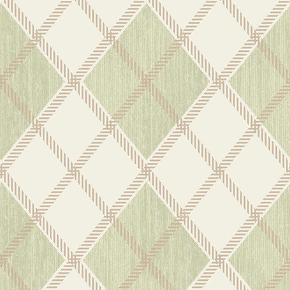Argyle Papier Peint Vert