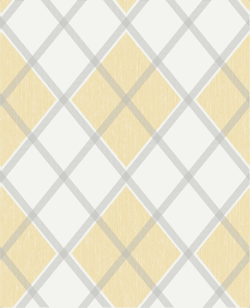 Argyle Yellow/Gold Wallpaper 20-551 Canada Discount