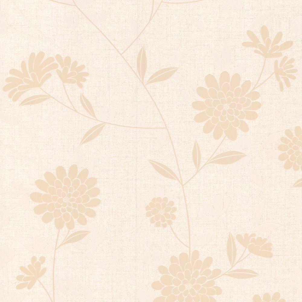 Botanic Cream/Beige/Almond Wallpaper