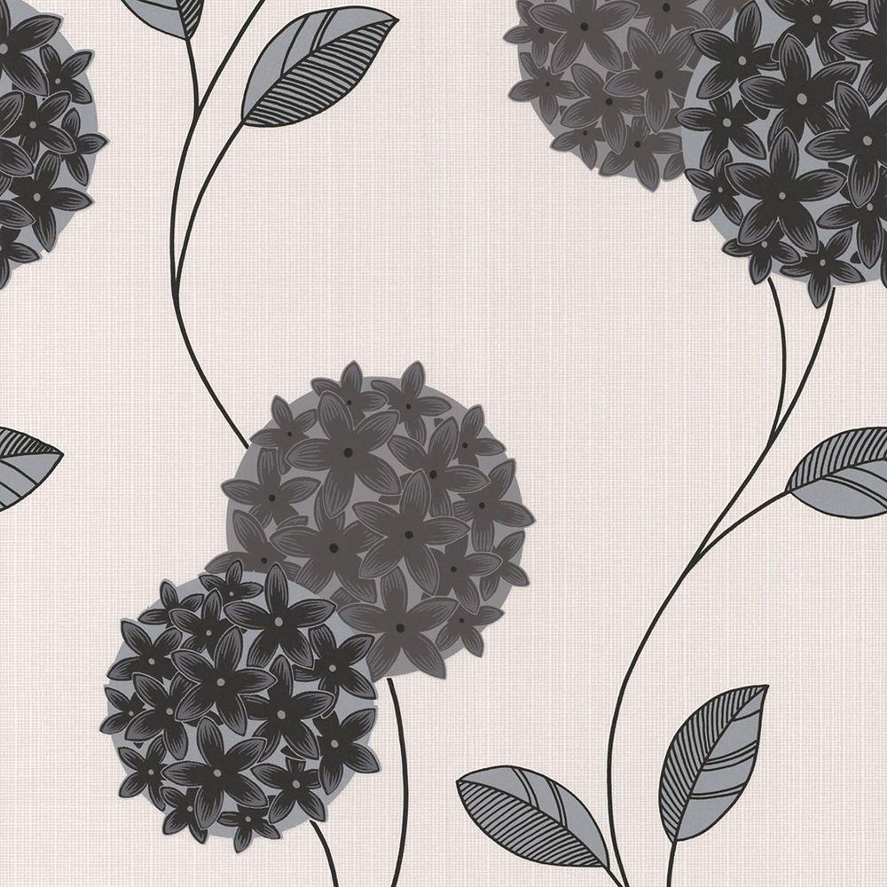 Pippa Black/White Wallpaper
