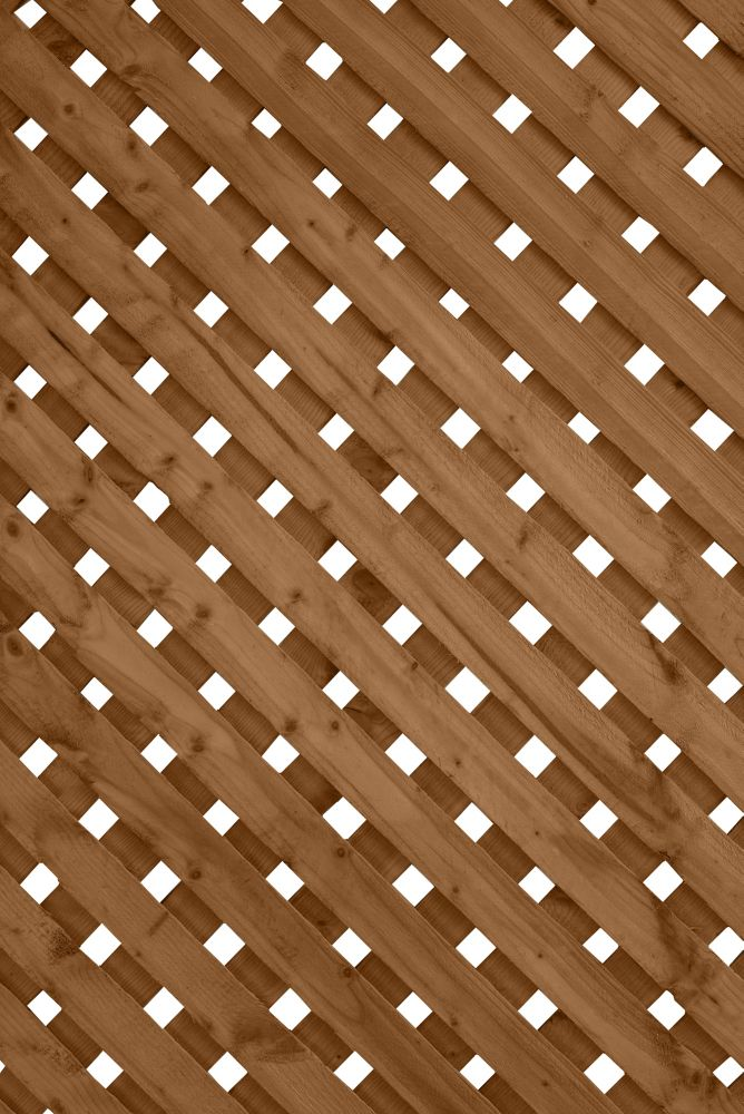 SUNTRELLIS 1 ft. x8 ft. Privacy Plus Brown Lattice Panel