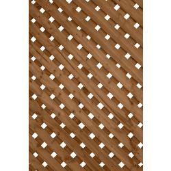 SUNTRELLIS Panneau de treillis Intimité Plus, 1 x 8 pi, brun