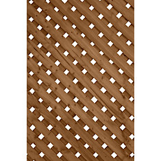 2 ft. x8 ft. Privacy Plus Brown Lattice Panel