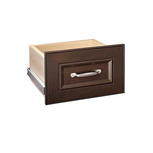 ClosetMaid Ensemble de tiroirs étroits Impressions, 4 po, chocolat