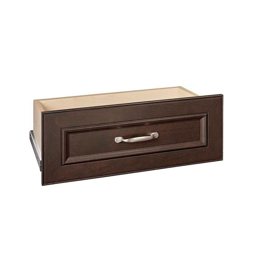 ClosetMaid Impressions 25 -inch Chocolate Standard Drawer Kit