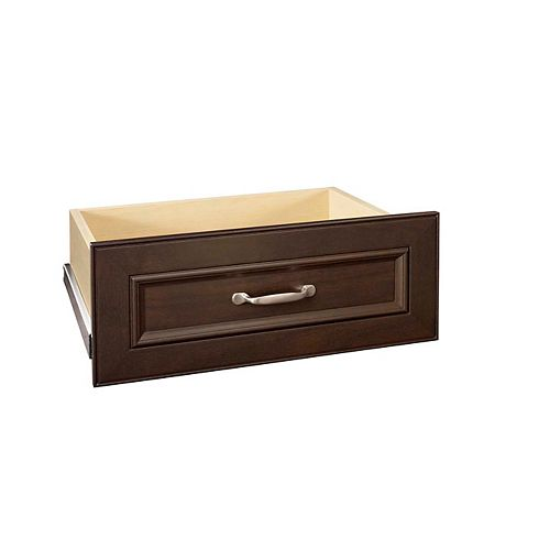 ClosetMaid Impressions 25-inch Wide Deluxe Drawer Kit in Chocolate