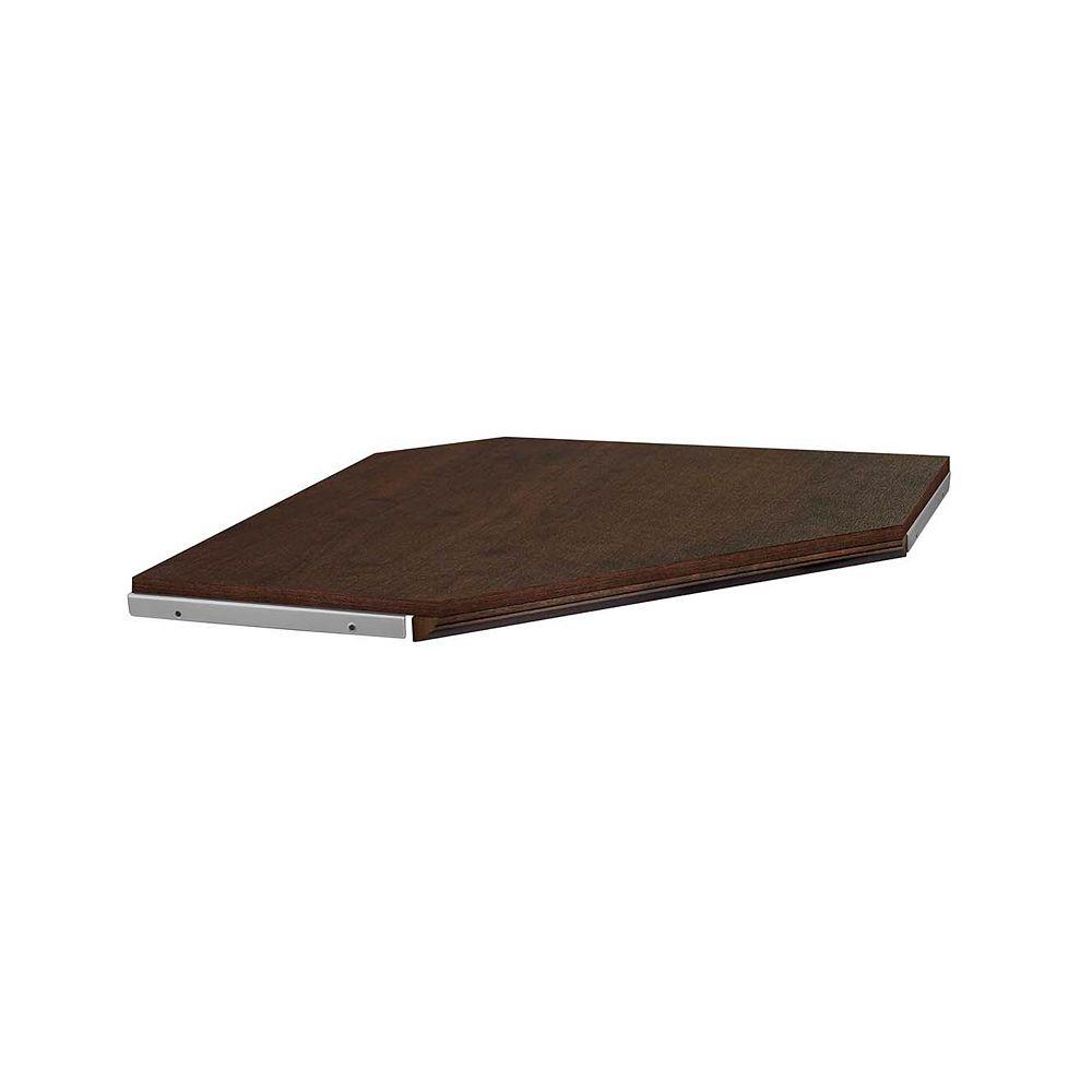 ClosetMaid Impressions Kit d'étagères d'angle en chocolat de 28 po avec moulures
