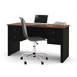 Bestar Somerville 53.5-inch x 29.5-inch x 23.5-inch Standard Computer Desk in Black
