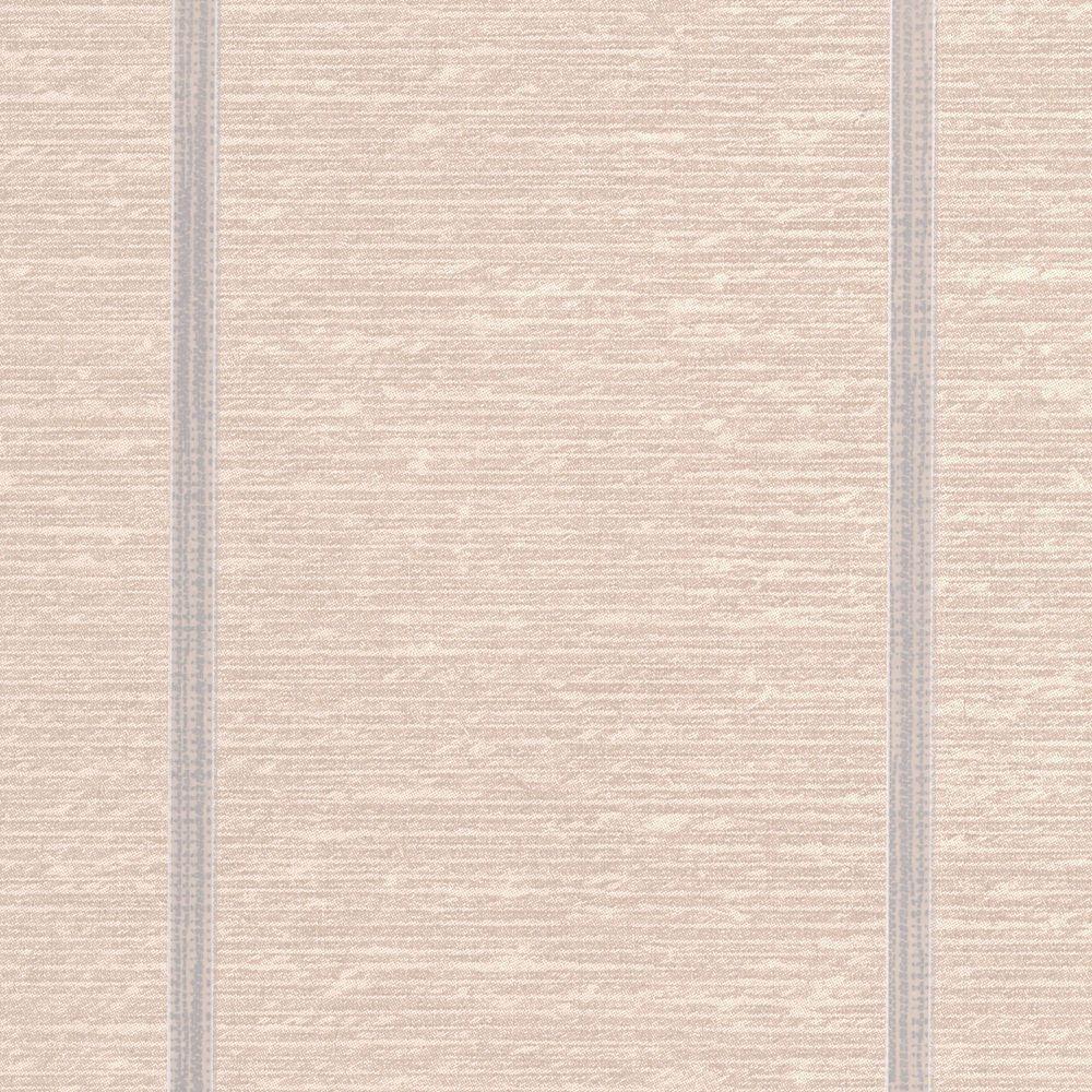 Prairie Stripe Beige/Silver Wallpaper