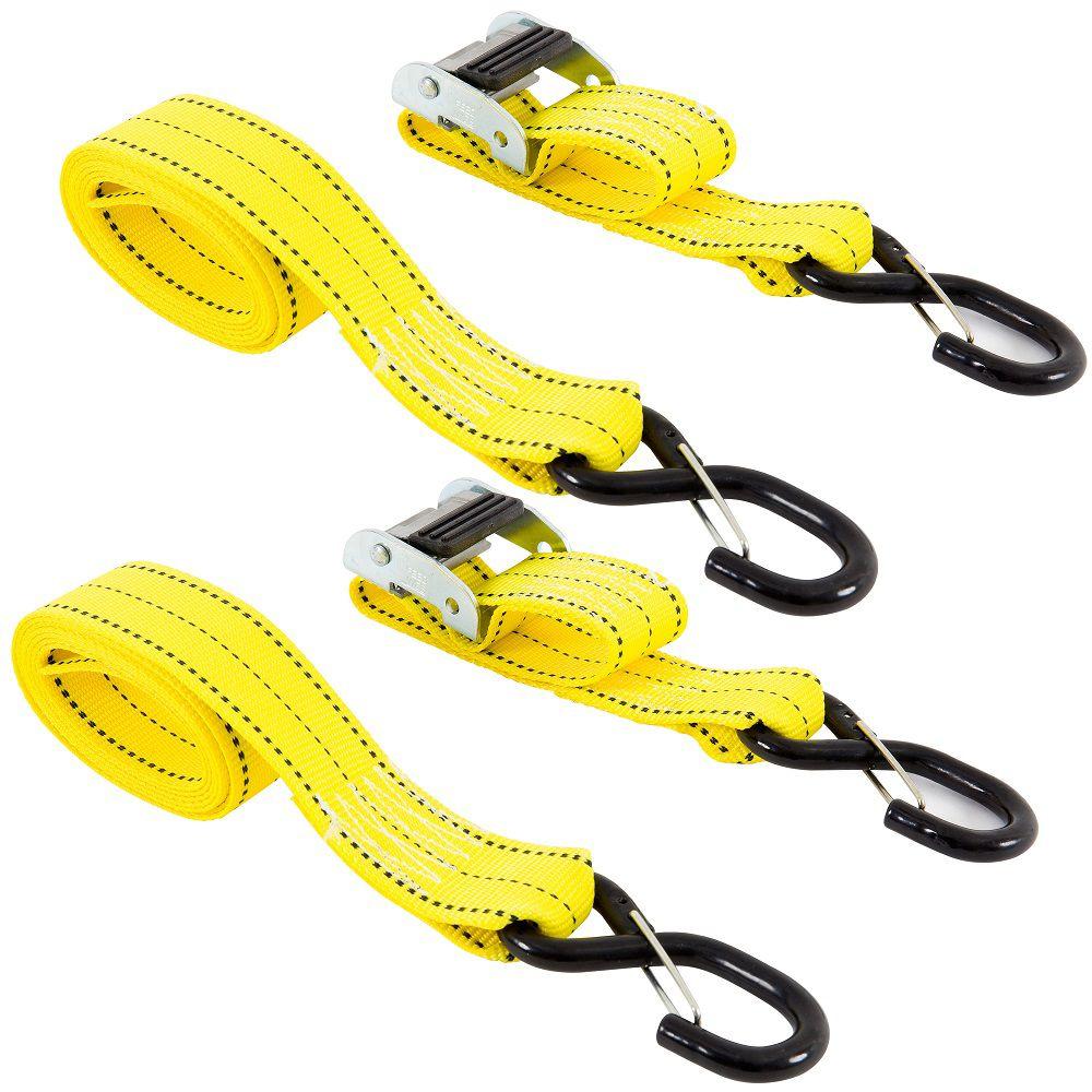 Tie-Down, 8 Feet. x 2 Inch.  Cam, 2Pk, i-pack