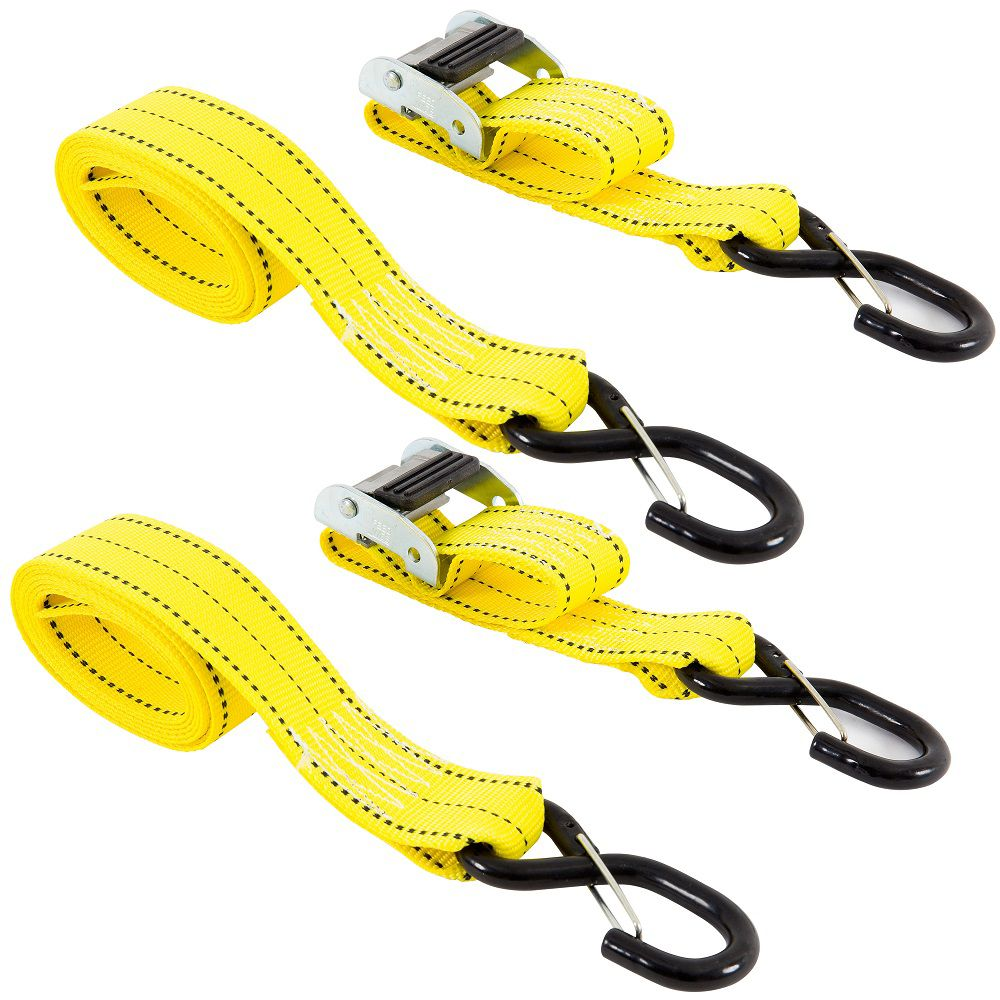 KEEPER Tie-Down, 8 Feet. x 2 Inch.  Cam, 2Pk, i-pack