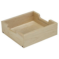 FindIT Wood Half Tray Organizer - 10.1875 Inches x 9.625 Inches x 3.2188 Inches