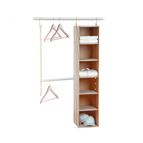 Neatfreak closetMAX System 2-Piece System with 6 Shelf & Bar