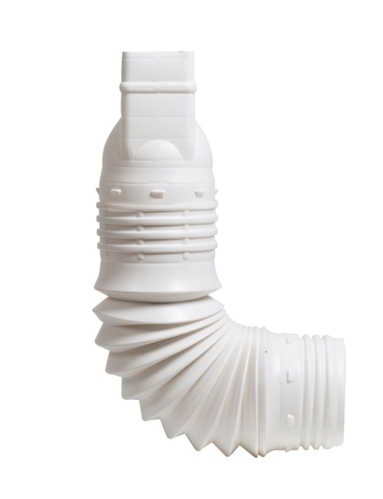 FLEX-A-SPOUT Downspout Adapter 3-In x 4-Inch White