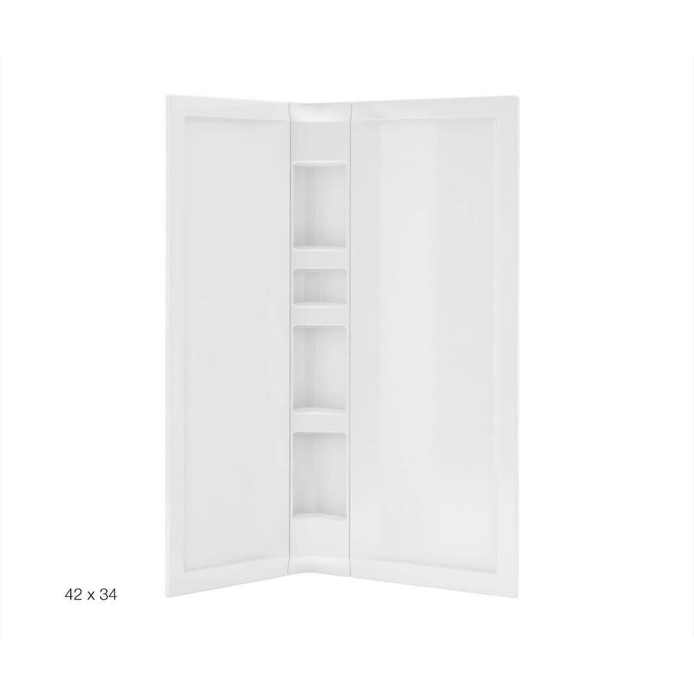 3 Piece Acrylic Wall Set White