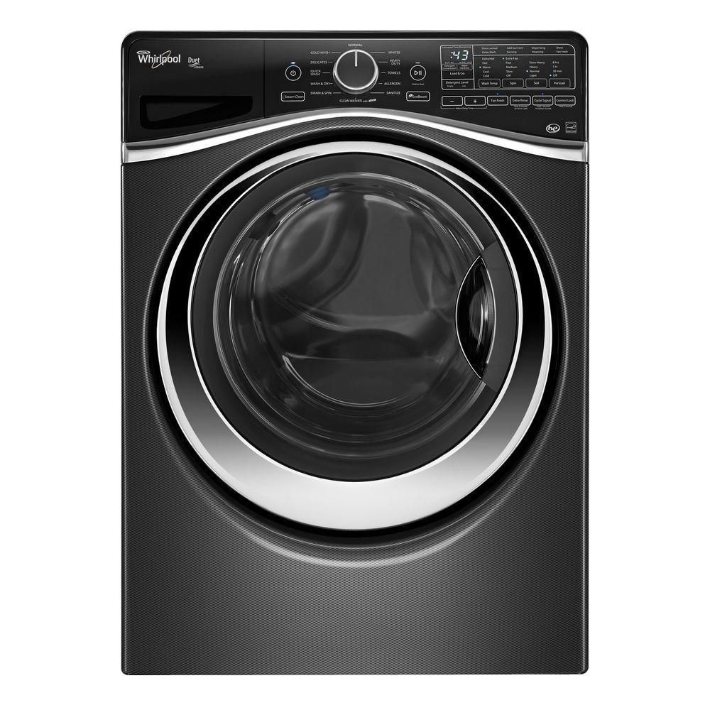 Duet<sup>®</sup> 5.2 cu. ft. Steam Front Load Washer with Load and Go System in Black Diamond